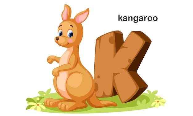 K voor kangaroo