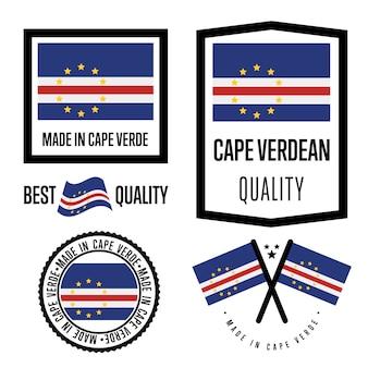Kaapverdië kwaliteitslabel set