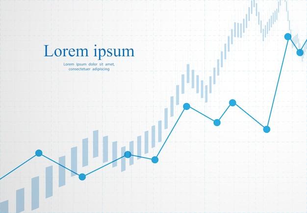 Kaars stok grafiek grafiek van aandelenmarkt investeringen handel