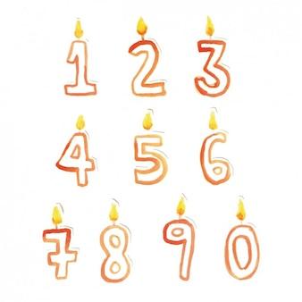 Kaars vorm nummers