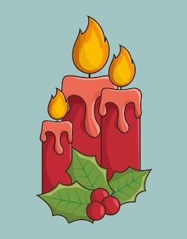 Kaarsen kerstmis