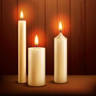 Kaarsen realistische achtergrond