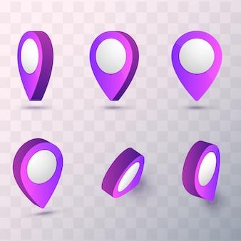 Kaart aanwijzer vectorillustratie. vector mark pin