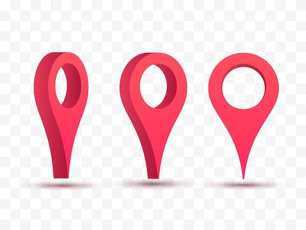 Kaart aanwijzer vectorillustratie.
