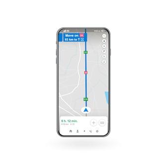 Kaart gps-navigatie smartphone-kaarttoepassing app zoeken kaartnavigatie banner vectorillustratie voor grafisch ontwerp