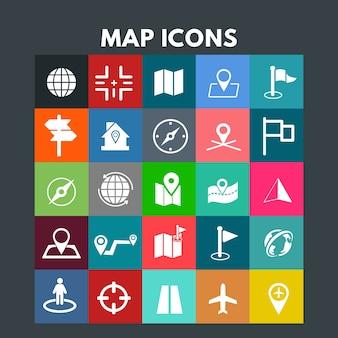 Kaart iconen