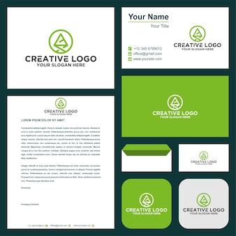 Kaart logo en visitekaartje