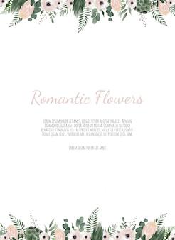 Kaart met bloem roos