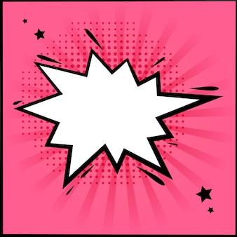 Kaart met komische stijl ontwerpsjabloon, pop-art stijl.