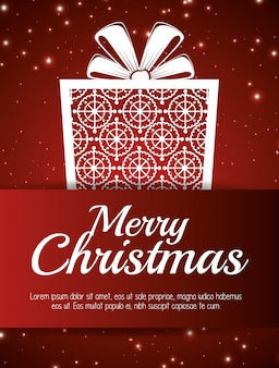 Kaart prettige kerstdagen en nieuwjaar ontwerp geïsoleerd