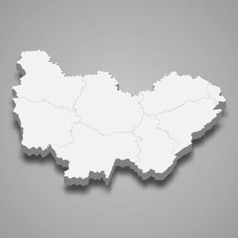 Kaart regio van frankrijk