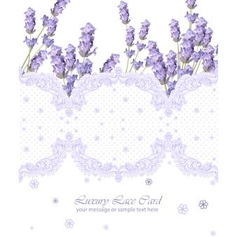 Kaart sjabloon met lavendel frame