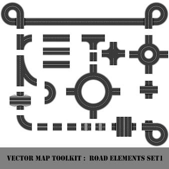 Kaart toolkit. bovenaanzicht positie.