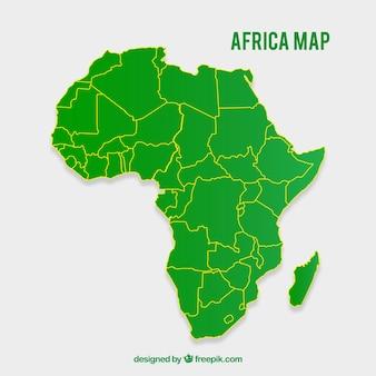 Kaart van afrika in vlakke stijl