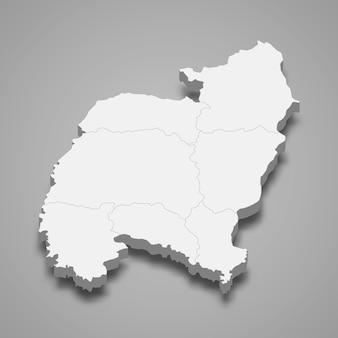 Kaart van amnat charoen is een provincie van thailand