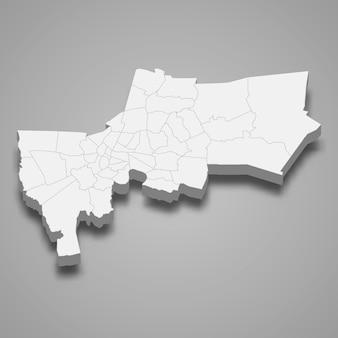 Kaart van bangkok is een provincie van thailand