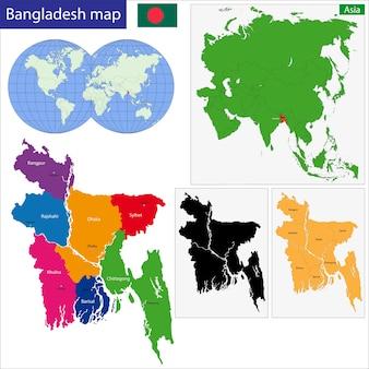 Kaart van bangladesh