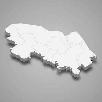 Kaart van bueng kan is een provincie van thailand