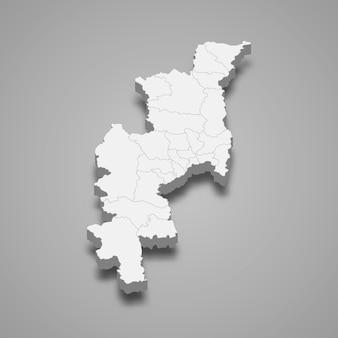 Kaart van chiang mai is een provincie van thailand