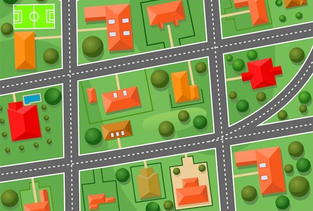 Kaart van cottage village voor verkocht onroerend goed ontwerp