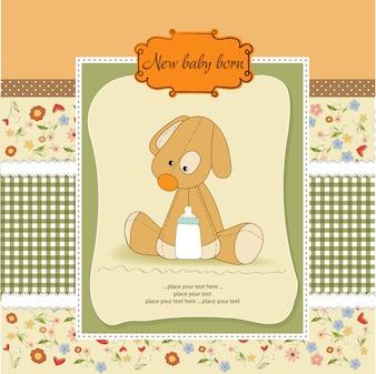 Kaart van de baby douche met puppy