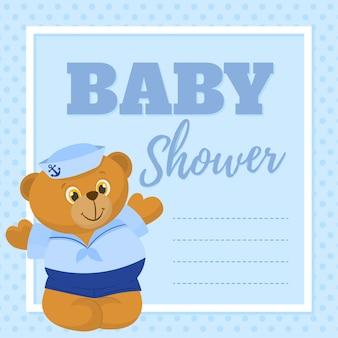Kaart van de baby douche, uitnodiging, wenskaart
