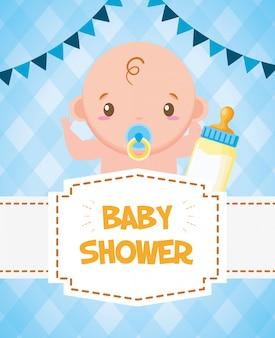 Kaart van de baby douche