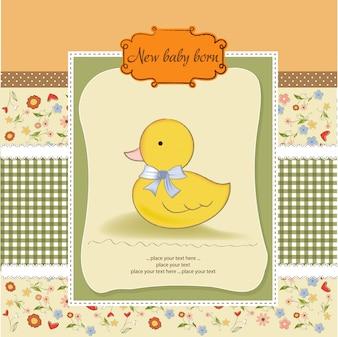 Kaart van de babydouche met kleine hertog