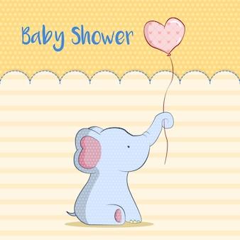 Kaart van de douche van de baby