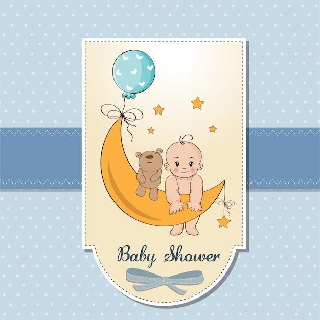 Kaart van de douche van de babyjongen