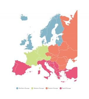 Kaart van de europese regio