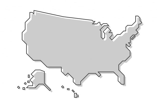 Kaart van de verenigde staten van amerika