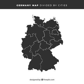 Kaart van duitsland