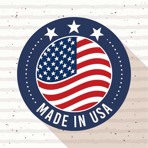 Kaart van gemaakt in de verenigde staten