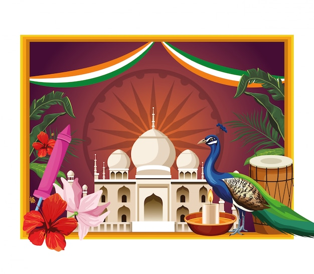 Kaart van het het monumententoerisme van india