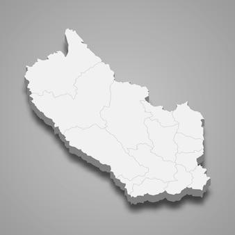 Kaart van kanchanaburi is een provincie van thailand