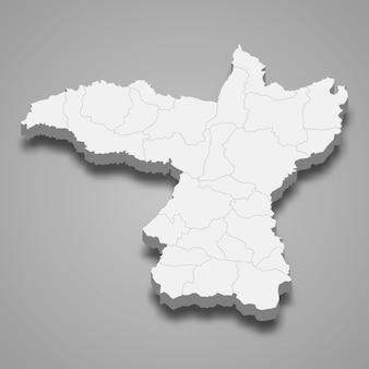 Kaart van khon kaen is een provincie van thailand