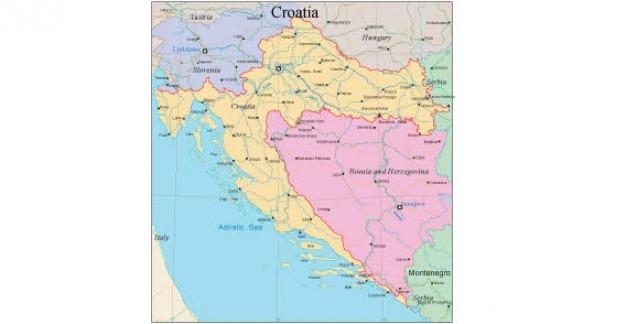 Kaart van kroatië