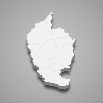 Kaart van maha sarakham is een provincie van thailand