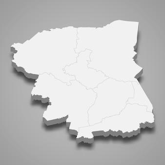Kaart van nakhon pathom is een provincie van thailand