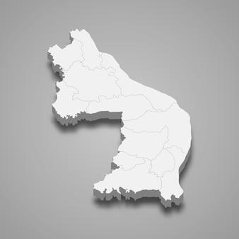 Kaart van nakhon phanom is een provincie van thailand