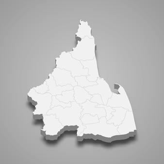 Kaart van nakhon si thammarat is een provincie van thailand