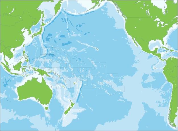 Kaart van oceanië
