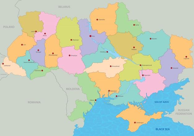 Kaart van oekraïne