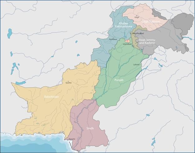 Kaart van pakistan