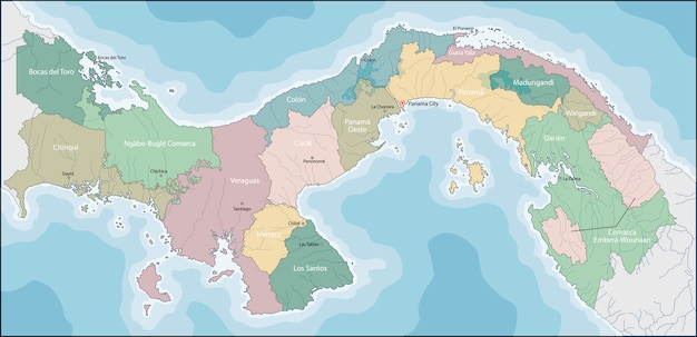 Kaart van panama