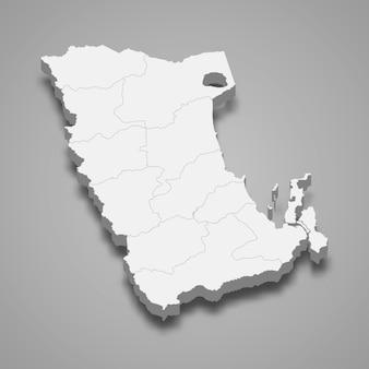 Kaart van phatthalung is een provincie van thailand