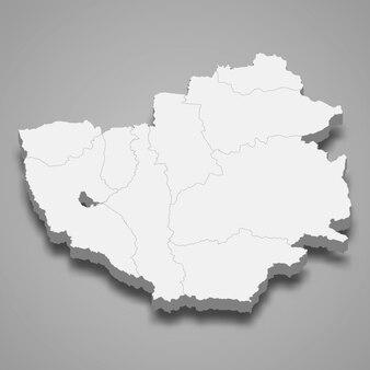 Kaart van phayao is een provincie van thailand