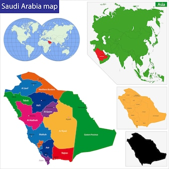 Kaart van saoedi-arabië