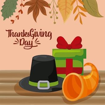 Kaart van thanksgiving day